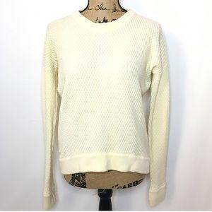 Lululemon Cream Merino Wool Knit Yogi Crew Sweater